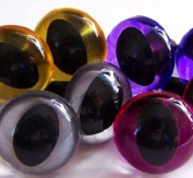 Suncatcher Craft Eyes 4-pair Cat Eye Pack 9mm in Silver, Gold, Purple, Pink