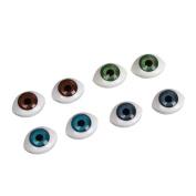 Generic Mini Oval Hollow Plastic Eyes Eyeball For Doll Bear Mask DIY Making