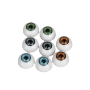 Generic Half Round Acrylic Doll Bear Craft Plastic Eyes Eyeball For Halloween Pack of 8