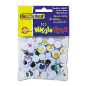 Wiggle Eyes Assortment, Assorted Sizes, Assorted Colours, 100/Pack