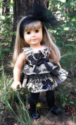 Dinky Baby 46cm American Girl Doll Dress Pattern (271) My Little Black Dress