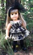 Dinky Baby 46cm American Girl Doll Dress Pattern (271) My Little Black Dress
