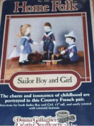 Sailor Boy and Girl - Home Folk 30cm Doll Pattern No. 840