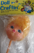 Doll Craftin' Craft KISSING DOLL HEAD w PICK (Vinyl) 5.1cm - 1.9cm w BLONDE Combable HAIR