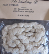 Quilting B Craft FINE STRING .180ml WHITE Colour For DOLL HAIR, CRAFT & Jewellery Projects