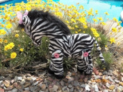 Cloth Zebra Stuffed Toy Pattern with Instruction CD/184/Made from Faux Zebra Fabric / Button Joined Legs