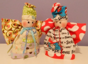 """Cloth Tooth Fairy Pattern w/ Instruction CD/135/ """"Toofairy"""" 15cm -*'"""" Doll/ Made from Craft Velour"""