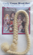 All Cooped Up CREPE 100% WOOL DOLL HAIR 30cm Braid BLONDE Colour