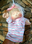 Cloth Soft Sculpture Baby Doll Pattern Puppet with Instruction CD/118/Poppie 23cm -Makes Boy & Girl Dolls w/clothes from Craft Velour Fabric