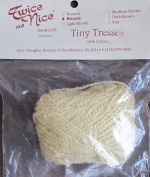 Twice as Nice TINY TRESSES 100% Cotton For DOLL HAIR & MORE Approx. .180ml BLONDE Colour