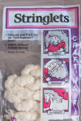 All Cooped Up STRINGLETS CRAFT HAIR For DOLLS & MORE Approx. .120ml NATURAL MEDIUM WHITE Colour