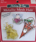 "Holiday Time METALLIC MESH DOLL HAIR .270ml (25g) ""BRONZE-GOLD"" Colour"