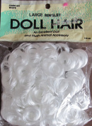 Wang's Craft LARGE RINGLET DOLL & ANIMAL HAIR Pack 30ml WHITE Colour