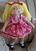 Cloth 46cm Addison the All American Girl Doll Pattern- Instruction CD/032/Needle Sculpted with Windsor Fabric Dress & Yarn Hair