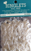 Craft RINGLETS DOLL HAIR Covers Approx. 1 SQ. FOOT Colour BLONDE Washable & Colour Fast