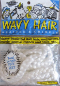 One & Only Craft WAVY DOLL HAIR Braided & Crimped 5 FEET Long WINTER WHITE Colour