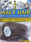 One & Only WAVY DOLL HAIR Braided & Crimped DARK BROWN Colour