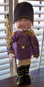 Cloth Holiday NutCracker Doll Pattern with Instruction CD/103/Sir Preston-50cm -Made from Craft Velour by Dinky Baby