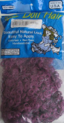 MAXI Craft PACK of CURLY DOLL HAIR 120ml (Covers 5.7 Sq. Feet) PUFF PURPLE Colour