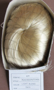Hand Made BOOTS TYNER Craft DOLL HAIR WIG Style PEACHES/PATCHES Fits SIZE 25cm - 28cm Colour LIGHT BLONDE Synthetic