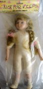 Craft 'JUST FOR KEEPS' CLASSIC DOLL 33cm Tall w PORCELAIN HEAD, HANDS & FEET, SOFT BODY & Combable BLONDE HAIR