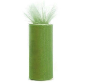Sage Green 15cm X 75 Ft (25 Yards) Tulle 100% Nylon