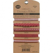 Decorative Ribbon - Dark Red - All My Memories Scrapbooking Supplies
