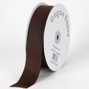 Chocolate Brown Grosgrain Ribbon Solid Colour 1cm 50 Yards