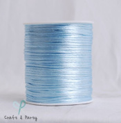 Light Blue 2mm x 100 yards Rattail Satin Nylon Trim Cord Chinese Knot