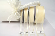 Ivory Organza Ribbon With Satin Edge-25 Yards X 1.6cm