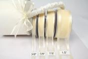 Ivory Organza Ribbon With Satin Edge-25 Yards X 1.6cm