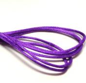 "20 Yards(60feet) - 2mm(1/13"") Purple Satin Rattail Cord Chinese/china Knot Rat Tail Jewellery Braid 100% Polyester"