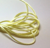 "20 Yards(60feet) - 2mm(1/13"") Baby Maize/Light Yellow Satin Rattail Cord Chinese/china Knot Rat Tail Jewellery Braid 100% Polyester"