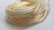 "20 Yards(60feet) - 2mm(1/13"") Ivory Satin Rattail Cord Chinese/china Knot Rat Tail Jewellery Braid 100% Polyester"