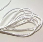 "20 Yards(60feet) - 2mm(1/13"") White Satin Rattail Cord Chinese/china Knot Rat Tail Jewellery Braid 100% Polyester"
