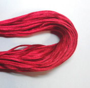 """20 Yards(60feet) - 2mm(1/13"""") Red Satin Rattail Cord Chinese/china Knot Rat Tail Jewellery Braid 100% Polyester"""