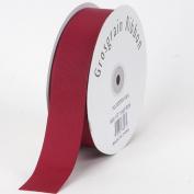 Burgundy Grosgrain Ribbon Solid Colour 1.6cm 50 Yards