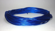 "20 Yards(60feet) - 2mm(1/13"") Royal Blue Satin Rattail Cord Chinese/china Knot Rat Tail Jewellery Braid 100% Polyester"