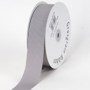 Silver Grosgrain Ribbon Solid Colour 1.6cm 50 Yards