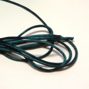 "20 Yards(60feet) - 2mm(1/13"") Hunter Green Satin Rattail Cord Chinese/china Knot Rat Tail Jewellery Braid 100% Polyester"