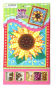 DIY Picture Kit W/Gems & Sequins Flower Design 20cm x 17cm