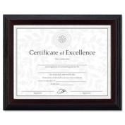 Burnes Home Accents N19881BT Solid Wood Award/Certificate Frame, 8-1/2 x 11, Black w/Walnut Trim