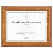Burnes Home Accents 2703N8X Document/Certificate Frame, Wood, 8-1/2 x 11, Stepped Oak