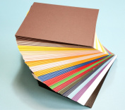 Pack of 100 MIXED colours 19cm x 24cm UNCUT Mat Board / Matboard Blanks for Framing / Crafting