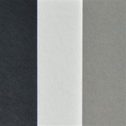 Black, White and Grey Full Sheet Mat Board Variety Pack (25 Quantity) 32 x 40 Cream Core