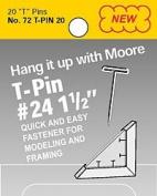 Moore T-Pins 3.8cm Pkg/20