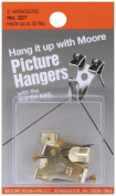 Moore 50lbs Hangers with Super Nail, 2 Pieces