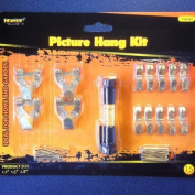 15 piece picture hanging kit