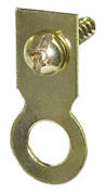 The Hillman Group 122225 Flat Ring Hanger with Screw, Brass Plated