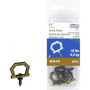 National N259-2230cm Antique Brass Decorative Screw Rings Pack of 3